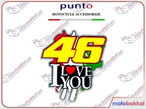 46 I LOVE YOU Punto Sticker Çıkartma